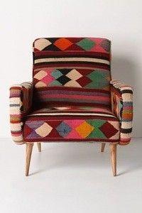 """mobilier : fauteuil en kilim, losanges, """"rock the kasbah"""", Philippe Xerri"""
