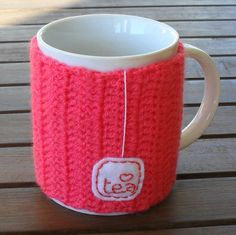 Tea Mug Cup Cozy - Made to Order. $12.50, via Etsy.