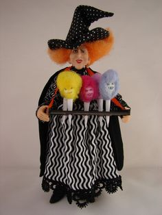 Cotton Candy Witch...Haunted Dollhouse miniature artist Pat Benedict...woopitydooart