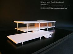 The models of the fundamental works of architecture - Realized and hand finished - architectural models for collection - info and shopping:. Casa Farnsworth, Maquette Architecture, Architecture Plan, Architecture Models, White Wall Decor, Arch Model, House Drawing, House Design, Farmhouse Chicago