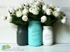 Turquoise and Grey Wedding Decor by BeachBlues