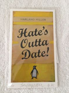 Harland Miller - Hates Outta Date Print sold out Limited edition of just 50 | eBay