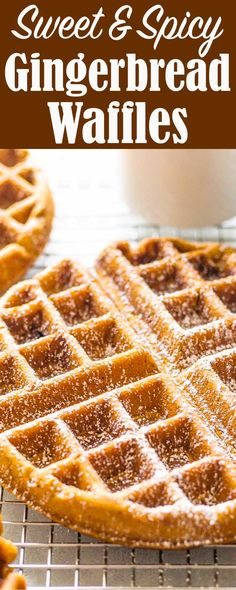 some gingerbread waffles for breakfast! A touch spicy, a touch sweet. They're perfect for the holidays.Make some gingerbread waffles for breakfast! A touch spicy, a touch sweet. They're perfect for the holidays. Brunch Recipes, Breakfast Recipes, Mexican Breakfast, Pancake Recipes, Crepe Recipes, Breakfast Ideas, Breakfast Sandwiches, Breakfast Pizza, Breakfast Bowls