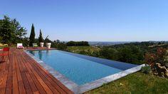 Piscine x 4 m Revêtement gris anthracite Backyard, Patio, Pool Landscaping, Pool Houses, Pool Designs, Exterior, Landscape, Architecture, Outdoor Decor