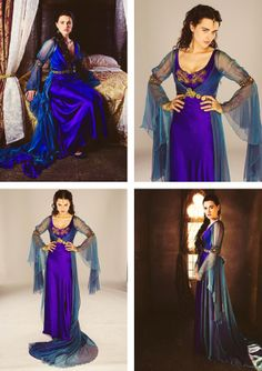 Morgana's blue\purple dress