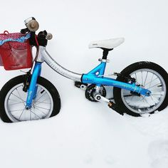LittleBig balance bike with pedals in the snow. Storm Ophelia clashed with The Beast from the East covering Ireland in a blanket of deep snow. Beast From The East, Balance Bike, Ireland, Motorcycle, Snow, Deep, Blanket, Motorcycles, Irish