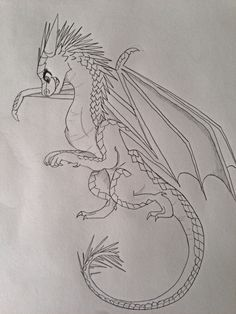 Wings of fire dragons Icicle drawn by @cocoapalms123