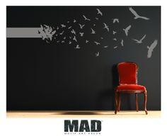 WALL STICKERS-:::BIRDS:::::size M de M.A.D (Projekt DadaRecyclerStudio)          sur DaWanda.com