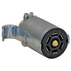Buyers 7 PIN TRAILER CONNECTOR, METAL, FLAT SOCKET - FOR TRUCK END - ROUND BODY
