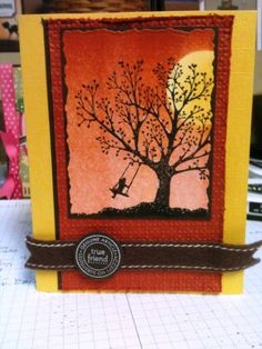 Karte mit Stempelset Forever Young von Stampin UP / card with stamps forever young