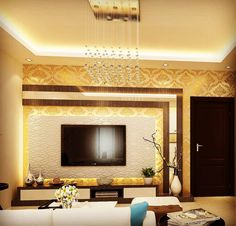 Modern Tv Unit Designs, Living Room Tv Unit Designs, Modern Tv Wall Units, Wall Unit Designs, Tv Unit Interior Design, Tv Unit Furniture Design, Modern Interior, Living Room Partition Design, Pooja Room Door Design
