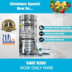 Muscletech Clear Muscle Xmas special Muscle Builder, Eat Right, Xmas, Products, Eating Well, Christmas, Navidad, Noel, Natal