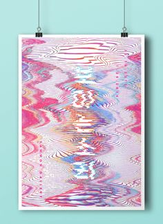 Visible sound by h-young Graphic Design Posters, Graphic Design Typography, Graphic Design Illustration, Graphic Design Inspiration, Graphic Art, Illustration Art, Glitch Art, Book Design, Cover Design