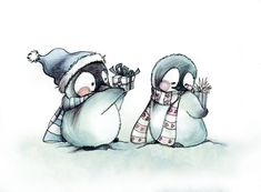 I have a soft spot for Penguins-Christmas Greeting Card