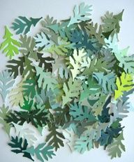 #paintchips in all shades of green make great cut out leaves