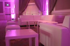 Uplight Lighting Pink Lights Lounge Rental weddings
