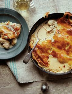 Delicious chicken and wild mushroom frying pan pie is a great midweek meal. Serves 4