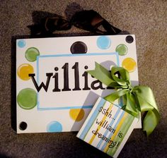 Custom Baby Name Canvas Sign and Sleep Sign  by dreamcustomartwork, $45.00
