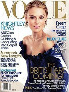2006 MAY VOGUE MAGAZINE - KEIRA KNIGHTLEY - BEAUTIFUL COVER