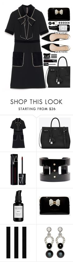 """""""Eclipsed"""" by sunnydays4everkh ❤ liked on Polyvore featuring Gucci, Yves Saint Laurent, NARS Cosmetics, Root Science, Ted Baker, Julien Macdonald and Nathalie Jean"""