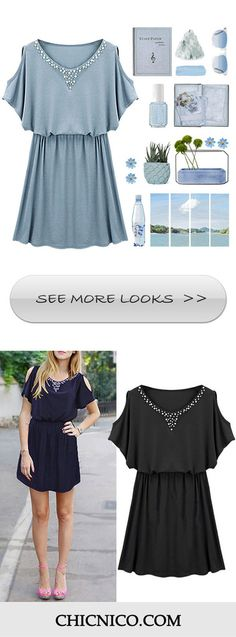 PLZ More summer! Hit the hot season in style with this Casual Mini Dress! $23.99 for you now! The resort life looks so good on you. Get it immediately atChicnico.com!