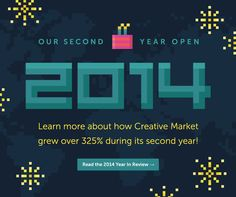 Behind-the-scenes stats and special moments that made the 2nd year of Creative Market a smashing success