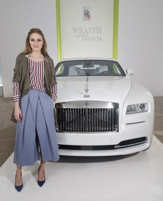 """Fashion Icon Olivia Palermo Receives a First Look at Rolls-Royce Motor Cars' Latest Design Creation, Wraith """"Inspired by Fashion"""" During The Global Debut Of The Stunning New Motor Car At An Exclusive Event"""