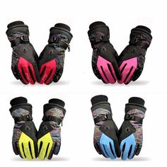 Beam Cuff Women Warm Waterproof Ski Gloves Motorcycle Easy to Grip and Motion
