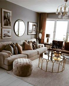 Elegantes Dekor - Wanda Zois - Best My deas Living Room Decor Cozy, Living Room Modern, Home Living Room, Apartment Living, Living Room Designs, Room Interior, Home Interior Design, Deco Design, Living Room Inspiration