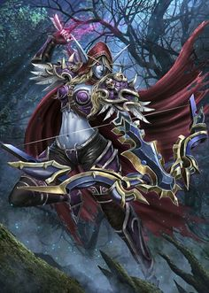World of Warcraft: Battle for Azeroth World Of Warcraft Game, Warcraft 3, Fantasy Women, Fantasy Art, Lady Sylvanas, Ashe League Of Legends, World Of Warcraft Wallpaper, Sylvanas Windrunner, Heroes Of The Storm