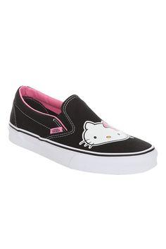 Sanrio Hello Kitty Vans black slip-on shoes 780c1d256