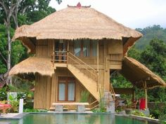 Fun Fact Friday: bamboo is the ideal building material for earthquake architecture.     When properly constructed, houses made of bamboo can sway back and forth during an earthquake, without any damage to the house!