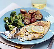 Baked Flounder with Fresh Lemon Pepper Recipe | MyRecipes.com