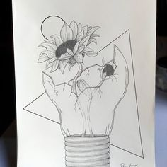 New The 10 Best Drawing Ideas Today with Pictures In the center of the mind a sunflower grows Gaphachi Emeryson rose sketches sketchbook drawings - Cool Art Drawings, Pencil Art Drawings, Easy Drawings, Pictures For Drawing, Easy Nature Drawings, Cool Pictures To Draw, Tumblr Art Drawings, Weird Drawings, Hipster Drawings