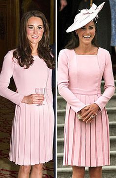 kate middleton pink dress | ... pink coat dress by Emilia Wickstead . The same dress she wore at a