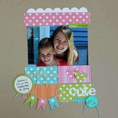 Cute made with Echo Park Candy Shoppe Dots line