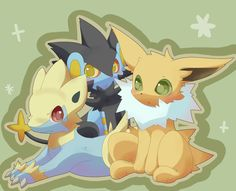 Jolteon, Manetric and Luxray ^.^ ♡
