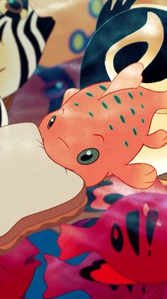 """Disney's Lilo and Stitch - Pudge the Fish with a Peanut Butter sandwich from Lilo because he """"controls the weather"""""""