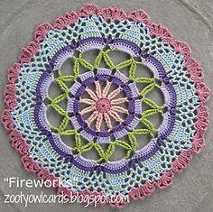 Fireworks Mandala ~ free pattern