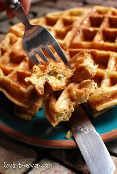 Lemon Poppy Seed Waffles. Wow. I really need to break out the waffle iron!