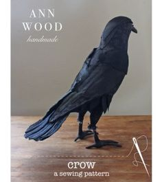 Crow Photos, Different Shades Of Black, Ann Wood, Visible Mending, Soft Sculpture, Bird Sculpture, Sewing Basics, Learn To Sew, Quilt Top