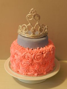 ... Princess Baby Shower Cake. See More. Darker Purple...another Layer Of  Leopard Print And Smaller Crown
