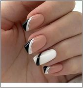 🔼Discover our semi-permanent nail polish for a perfect manicure in rec. 🔼Discover our semi-permanent nail polish for a perfect manicure in record time😉! 🎁 on your first order with the code -International delivery Square Nail Designs, Nail Art Designs, Nails Design, French Tip Nail Designs, Elegant Nail Designs, Elegant Nails, French Nails, Acrylic French Manicure, White Manicure