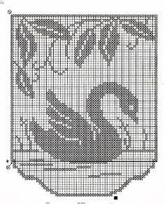 Cisnes en cortinas de ganchillo Gráfico 4