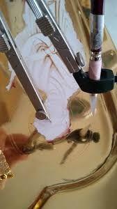 Výsledek obrázku pro ADVANCED LEVEL WATER GILDING Ikon - work in progress Byzantine Icons, Byzantine Art, Religious Icons, Religious Art, Writing Icon, Monastery Icons, Good Shepard, Paint Icon, Gold Leaf Art