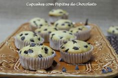 Cupcakes com Pepitas de Chocolate / Cupcakes with Chocolate Chips