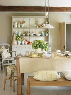 How you can assemble your own casual, countrified breakfast spot with a little elbow grease and other thrifty alternatives to these antiques and one-of-a-kind finds. | Photo: Ted Morrison | thisoldhouse.com
