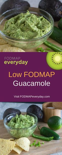 "Yes, You Can Eat Low FODMAP Guacamole! When you think of ""guac"" you might assume it is high FODMAP and that you cannot have any. Well, a hefty serving is high FODMAP, but avocado is low FODMAP at 20 g Fodmap Meal Plan, Fodmap Diet, Fodmap Foods, Fodmap Recipes, Diet Recipes, Healthy Recipes, Sauce Recipes, Diet Tips, Lunch Recipes"