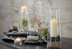 These candle holders our so beautiful, you can put anything in them, decorate for any season.