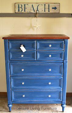 Napoleonic Blue Dresser - Chalk Paint® decorative paint by Annie Sloan